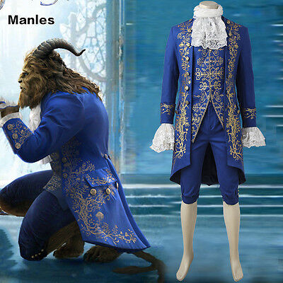 2017 Movie New Beauty and the Beast The Beast Adam Adult Cosplay Fancy Costume  (The Beast Costume)