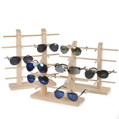 Mulit-size Wood Sunglass Display Show Case Rack Shelf Eye Glasses Show Stand Hot