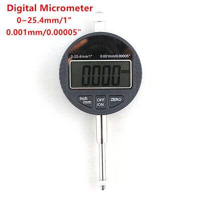 Digital Micrometer 25.4mm1 Electronic 0.001mm Micron Dial Indicator Measuring