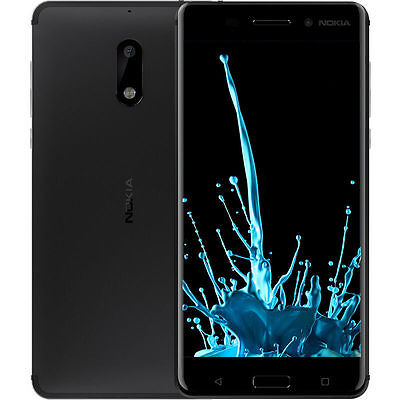 New Nokia 6   64Gb 4Gb Ram   Dual Sim Black Unlocked Android Smartphone 5 5 Us