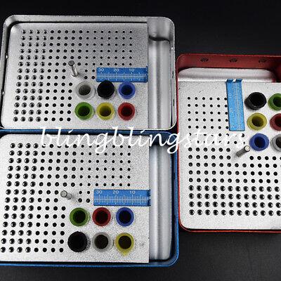 180 Hole Dental Endo Box Fg Bur Holder Autoclave Disinfection Box Ruler 3 Color