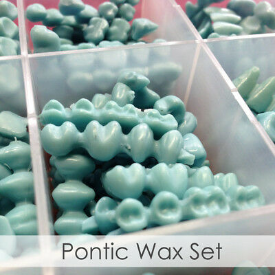 BesQual Dental Lab Wax Pontic Set 10 different Sizes and Forms +/- 300 pcs/Box (Setting Wax)