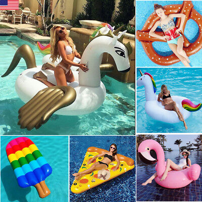 6 Design Giant 59   98  Inflatable Swimming Pool Ride On Float Beach Lounge Raft