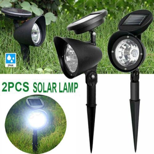 2 Pack Solar LED Power Outdoor Path Light Spot Lamp Yard Garden Lawn Landscape