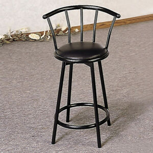 BLACK BAR STOOLS WITH PADDED SEAT