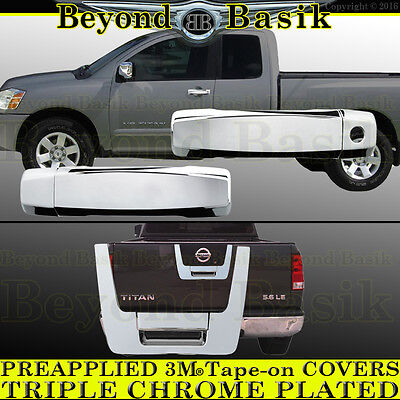 For 2004-2012 NISSAN TITAN Extended Cab Chrome Door Handle+Tailgate COVERS -