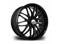"*Load Rated* x4 20"" Riviera Stryke Alloy Wheels VW T5 T6 T6.1 Amarok Black 8.5J"