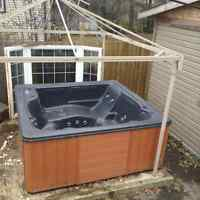Hot tub as is...