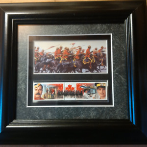RCMP 125th - Framed Commemorative Stamps