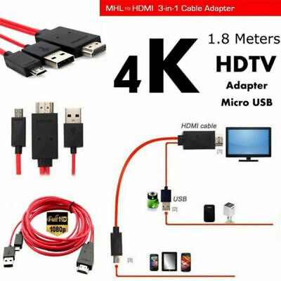 MHL Micro USB to HDMI 1080P HD TV Cable Adapter For Samsung Android Cell Phone