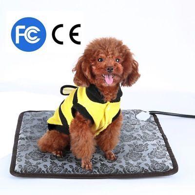Pet Dog Cat Waterproof Electric Heating Pad Body Winter Warmer Mat Bed Blanket