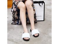 DAYMISFURRY --- Mink Fur Slippers-White