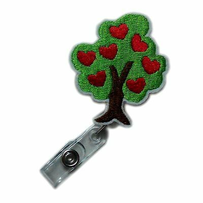 Retractable Applique Heart Tree Reels ID Clips Police Nursing Card Badge Holder for sale  China