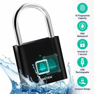 Fingerprint Padlock Waterproof Smart Lock for Gym School Loc
