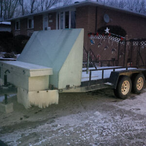 7 by 16 foot tandem trailer