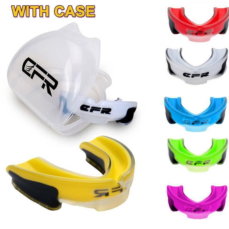 Sport Gel Gum Shield Mouth Guard Teeth Protection Kids Junio