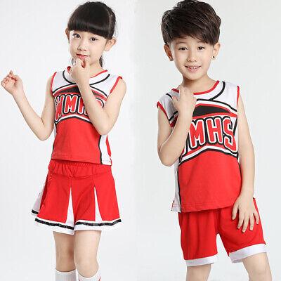 Boy Cheerleader Costume (Kids High School Musical Costumes Girls Glee Cheerleader Costume Boys)