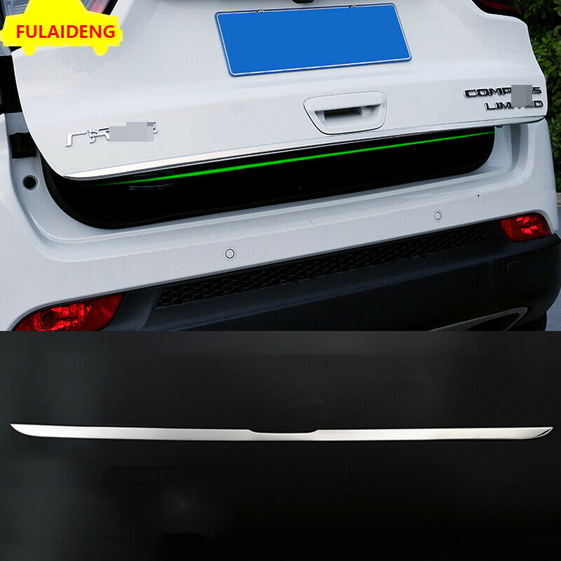 For Jeep Compass 17 2018 Chrome Rear Trunk Door Handle Bowl Tailgate Cover Trim~