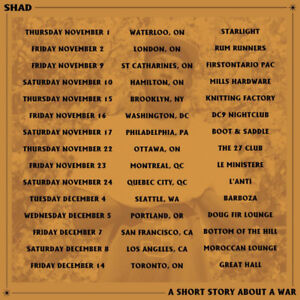 SOLD OUT Shad Tickets (At Cost) Toronto - Friday, December 14th
