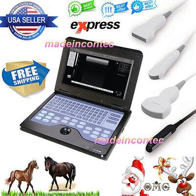 Contec Vet Veterinary Digital Laptop Ultrasound Scanner System4 Probe Cms600p2