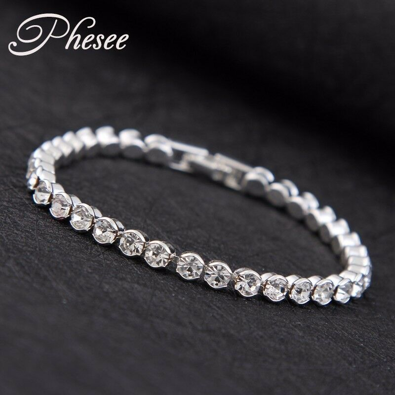 Silver Plated Shiny Austria Crystal Bracelet