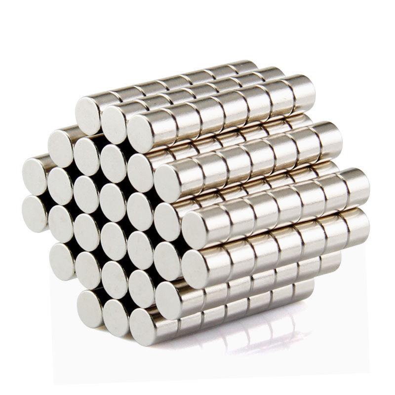 Neodym Magnete super stark Scheiben Würfel N35 N45 N50 doppelt vernickelt Scheibe - Ø 5 X 3mm
