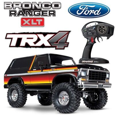 NEW Traxxas TRX-4 Ford Bronco Trail RC 4x4 Scale Rock Crawler Truck SUNSET Color