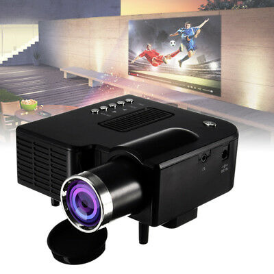 1080P Full HD Mini Projector Home Theater Cinema AV VGA USB HDMI 16:9 to 4:3