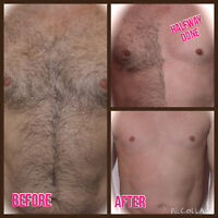 MEN'S BODY SUGARING HAIR REMOVAL