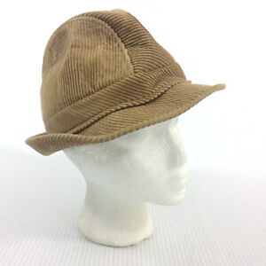 Tan Brown Corduroy Irish Fedora Hat Handtailored Ireland Blarney
