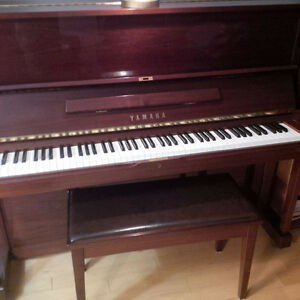 Yamaha Piano - mint condition and professionally maintained