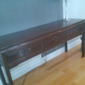 certified antique buffet table