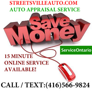 QUICK ONLINE / MOBILE APPRAISAL SERVICE! Save $$$$! 416-566-9824