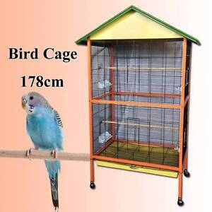 Open to public 178cm bird cage budgie canary parrot cage Riverwood Canterbury Area Preview