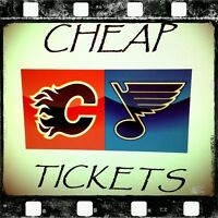 ★★ FLAMES vs. BLUES Oct 13 & Mar 14 ★★ ● ● HARD COPY TIX ● ●