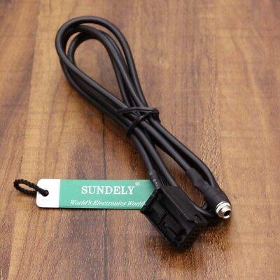 3.5mm Female AUX Auxiliary Audio Input Kit Adapter Cable For BMW E60 E61 E63 E64