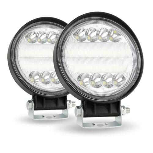 2pc 27W LED Rund Fernscheinwerfer Arbeitsscheinwerfer Spot Fog Lampe Offroad LKW
