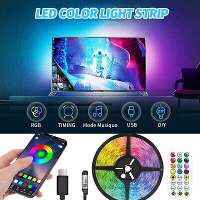 49.2ft RGB Bluetooth LED Strip Lights 5050 SMD Flexible LED Color Change USB Kit