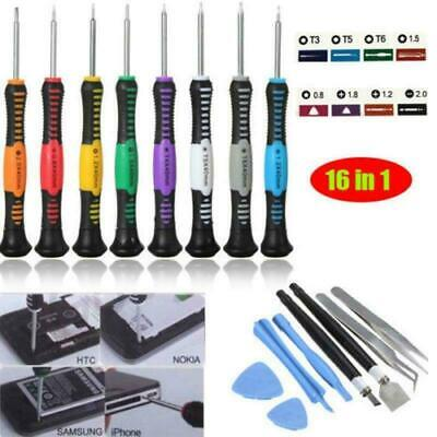 Iphone Tool Kit (Mobile Phone Repair Tool Kit 16 in 1 Screwdriver Set For iPhone 4S 5 5S 6 7 iPad)