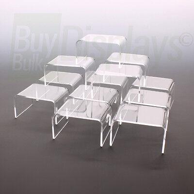 Mini Acrylic Display Risers Set Of 12 - 2-14 X 3 X 1-12 High
