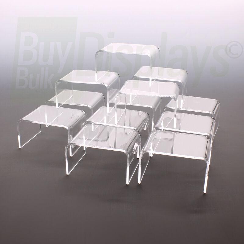 Mini Acrylic Display Risers Set of 12 - 2-1/4 x 2 x 1-1/2 High,