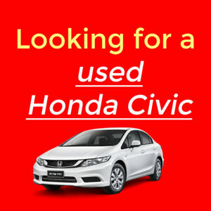 Looking for a Used Honda Civic