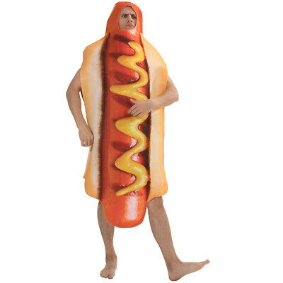 Halloween Hot Dog (Hot Dog Food Costume Fancy Dress Adult Halloween Party Funny Dress One)