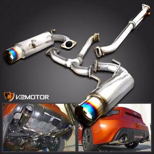 For 12-17 Scion FRS Subaru BRZ Dual Titanium Tip Catback Exhaust