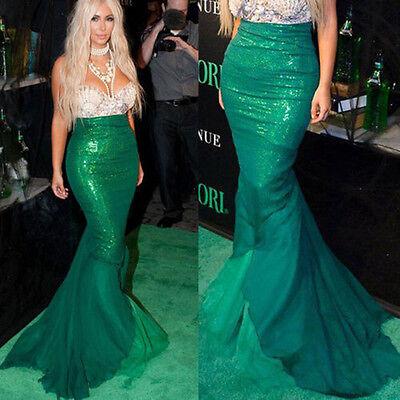 Women Girl Mermaid Halloween Cosplay Costume Fancy Party Dresses Tail Maxi Skirt ()