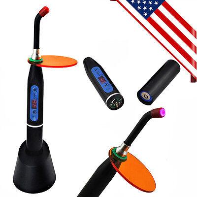 New 10w Dental Wireless Cordless Led Curing Light Lamp 2000mw - Black Us Stock