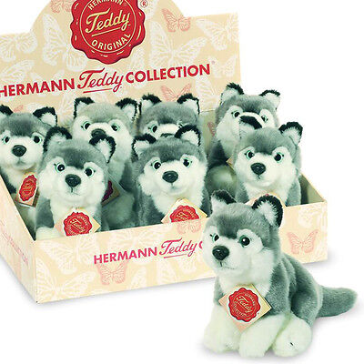 Husky soft toy plush dog / puppy by Teddy Hermann - 15cm...