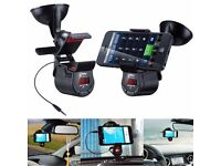 Bluetooth incar car holder fm transmitter and charger can be linked with your mobile receive calls