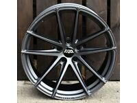 """19"""" AVA HSF 001 Alloy Wheel and Tyre Package 5x112 Audi A4, BMW 3 Series G20, Volkswagen Scirocco"""