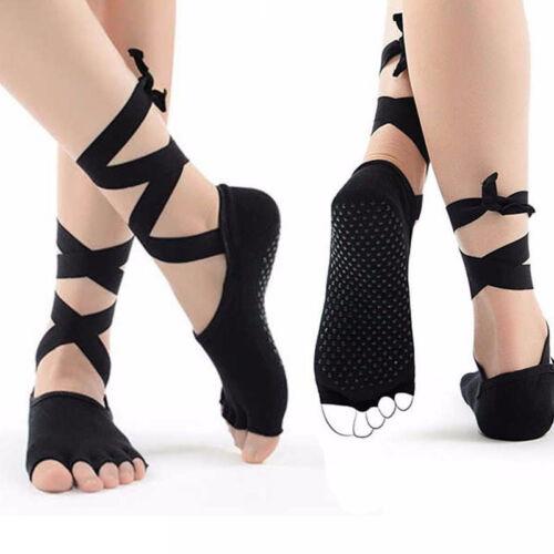 1pairs  Fingers Yoga Socks Ballet Dance Bandage Sport Socks Open Toe Stockings